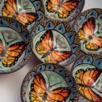 Monarch Butterfly Bowls by Karen Fiorino