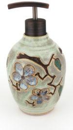 Handmade Pottery Soap / Lotion Dispenser by Loma Prieta Pottery