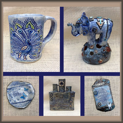 Pottery Online Show-Blue Butterfly Crafts