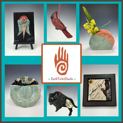 Pottery Online Show-Earth to Art Studio
